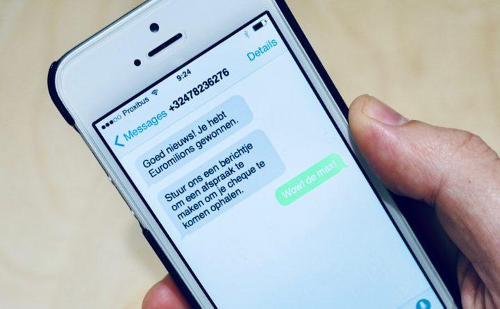 Valse SMS op smartphone