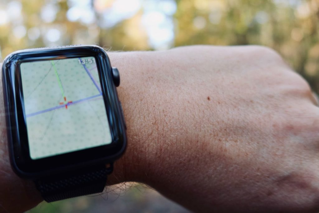 ViewRanger op Apple Watch in het bos