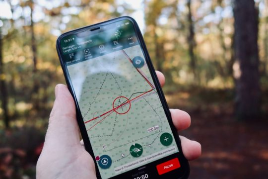 ViewRanger-op-iPhone in het bos